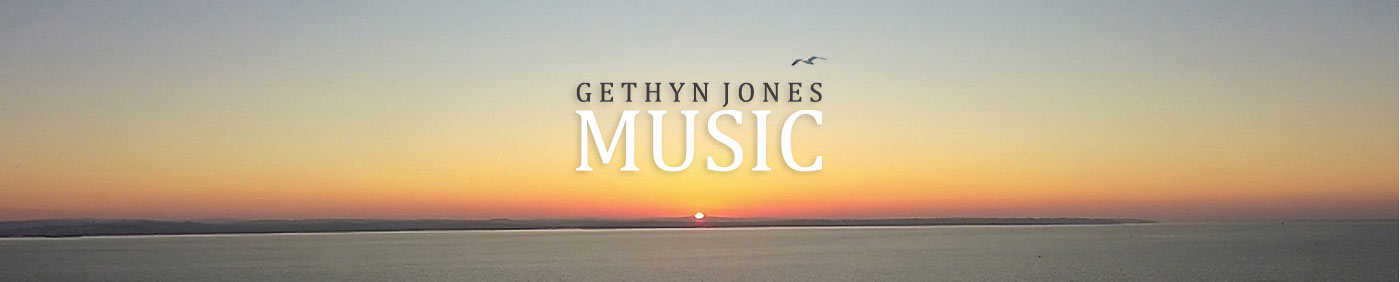 Sunset across the Solent in Hampshire UK - where composer and songwriter Gethyn Jones lives
